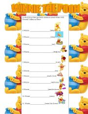 Winnie the pooh present continuous