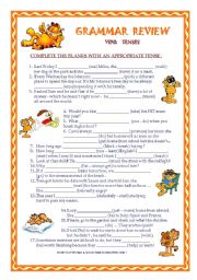 English Worksheet: Grammar review - tenses