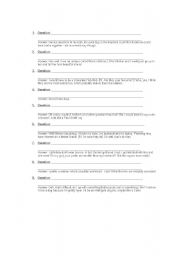 English Worksheets: What�s the question?