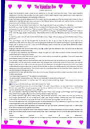 English Worksheet: The Valentine Box _text and questions (12.02.12)