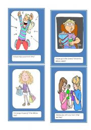 After midyear vacation speaking cards (set 1 of 2)