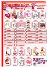 Vocabulary worksheets > Holidays and traditions > Valentine´s ...