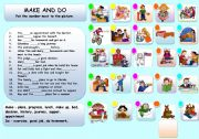English Worksheets: MAKE AND DO