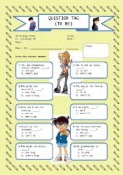 English Worksheets: Tag Question (to be)