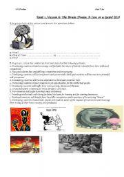English Worksheet: brain drain 2