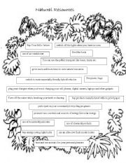 English Worksheet: Conservation of natural resources