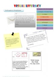 English Worksheets: Visual Literacy (2 pages)