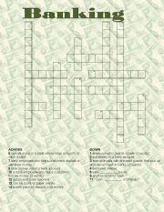 English Worksheet: Banking