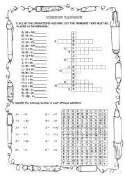 English Worksheet: CARDINAL NUMBERS