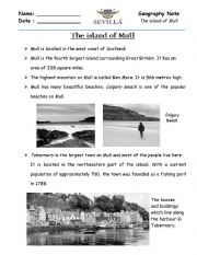 English Worksheets: Island of Mull