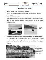 English Worksheets: Island of Mull