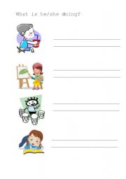 English Worksheets: doing