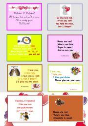 English Worksheet: Valentine´s fun poems for kids