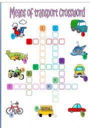 Transports crossword
