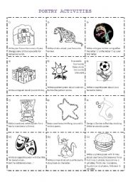 English Worksheets: Poetry Activities