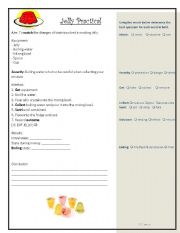 English Worksheets: Solids Liquids Gases Jelly