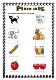 Irregular plurals worksheets