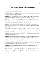 English Worksheets: willy wonka and the cholocate factory
