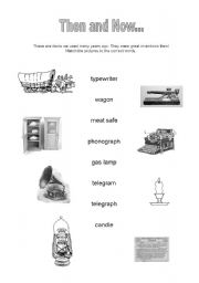 English worksheets: Technology - Then and Now - worksheet #3
