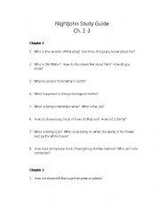 English Worksheets: Nightjohn Chapters 1-3