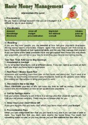 English Worksheet: Basic Money