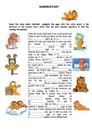 English Worksheet: Garfield�s Day