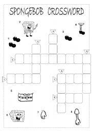 English Worksheets: Spongebob Crossword
