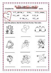 Valentines day vocabulary