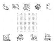 English Worksheet: Amusement Park Puzzle