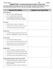 English Worksheets: Comparison Chart