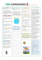 English Worksheets: Times Expressions Part 3