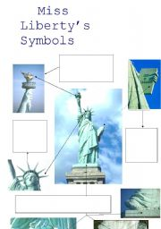 English worksheet: Miss Liberty´s Symbols