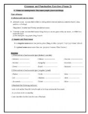 English Worksheets: Types of nouns