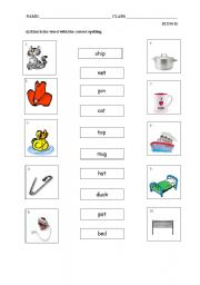 English Worksheets: match the word to the correct picture