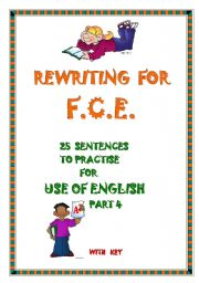 English Worksheet: First Certificate - Use of English part 4