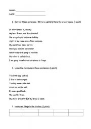 English worksheet: NOUNS