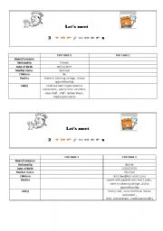 English worksheet: Let´s meet  2 top chefs