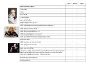 English Worksheets: Ad�le�s biography