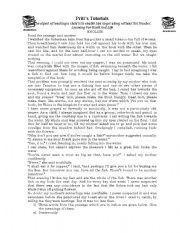 English Worksheets: comprehension for grade 5