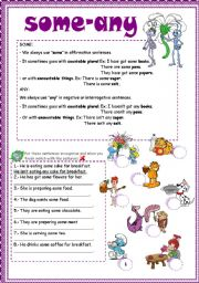 English Worksheet: Some or any exercise
