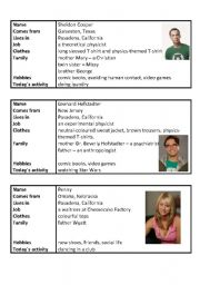 English Worksheet: Role play The Big Bang Theory