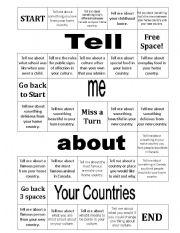 English worksheets: speaking game worksheets, page 9