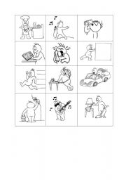 English Worksheets: Actions Flash-cards