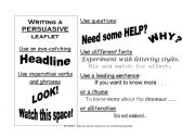 English Worksheet: Persuasive leaflet