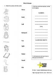 English Worksheets: Word Groups