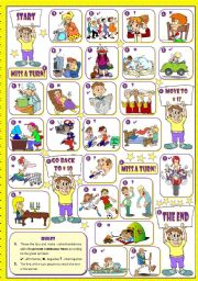 English Worksheets: Present Continuous Board Game