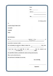 English Worksheets: A letter of request