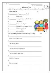 English Worksheets: How to make up questions