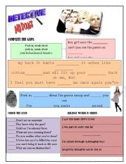 English Worksheet: Detective by No Doubt