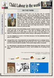 English Worksheets: Child Labour in the world - Reading